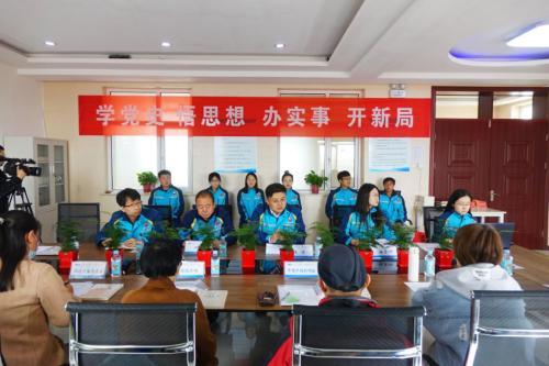 """""""践行长征精神,建设人民满意工程""""中国二十二冶廊坊项目举办企业开放日宣传活动"""